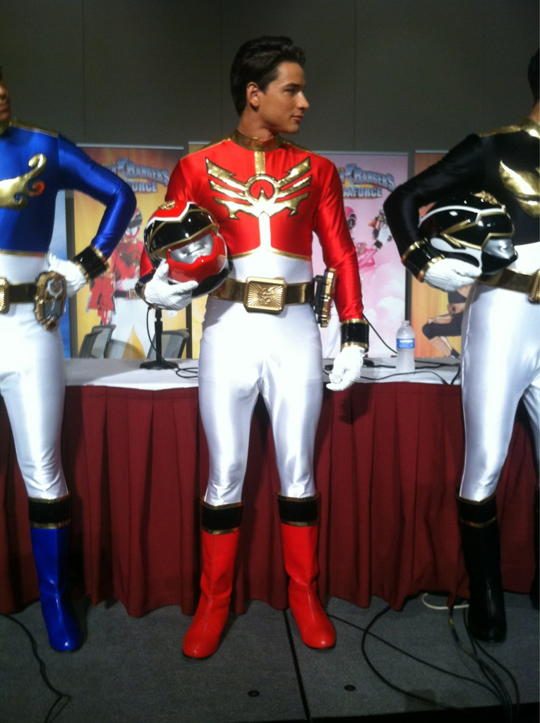 Power rangers revealed their body by taking off their uniforms